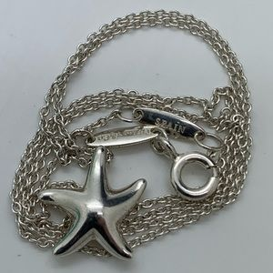 """Tiffany & Co.925 E. Peretti Starfish Necklace 16"""""""
